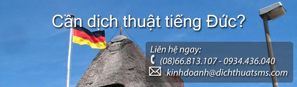Dịch tài liệu tiếng Đức - Công ty Dịch Thuật SMS
