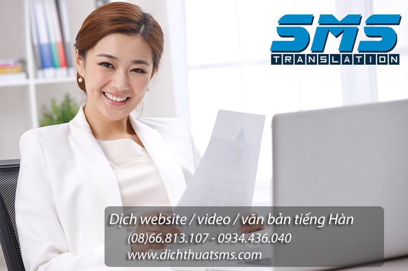 Dịch thuật website tiếng Hàn - Công ty dịch thuật SMS