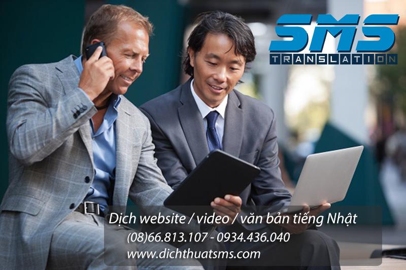 Dịch website tiếng Nhật - Dịch Thuật SMS