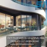 Dịch Thuật SMS dịch website tiếng Nhật Hoa Hàn cho dự án căn hộ cao cấp City Garden - Promenade