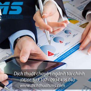 Dịch vụ dịch thuật báo cáo tài chính tiếng Anh