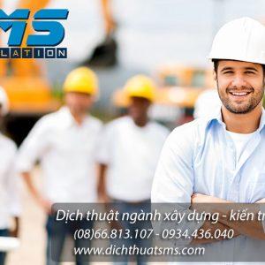 Dịch thuật hợp đồng xây dựng, tư vấn - thi công - giám sát xây dựng