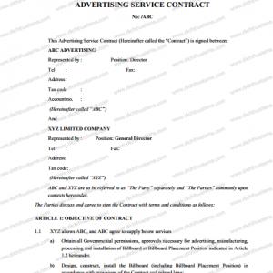 Dịch Thuật SMS xin giới thiệu mẫu bản dịch Hợp đồng quảng cáo tiếng Anh chuẩn. Đây là mẫu hợp đồng kinh tế tiếng Anh dành cho các công ty truyền thông - marketing - quảng cáo - sự kiện tham khảo khi cung cấp dịch vụ cho các khách hàng là tập đoàn hoặc công ty nước ngoài.